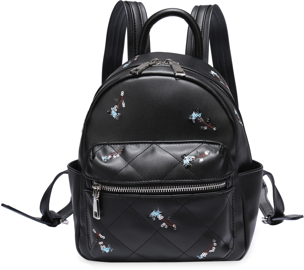 Рюкзак женский OrsOro, цвет: черный, 19 x 25 x 11 см. DS-828/1 orsoro ds 871 1 black
