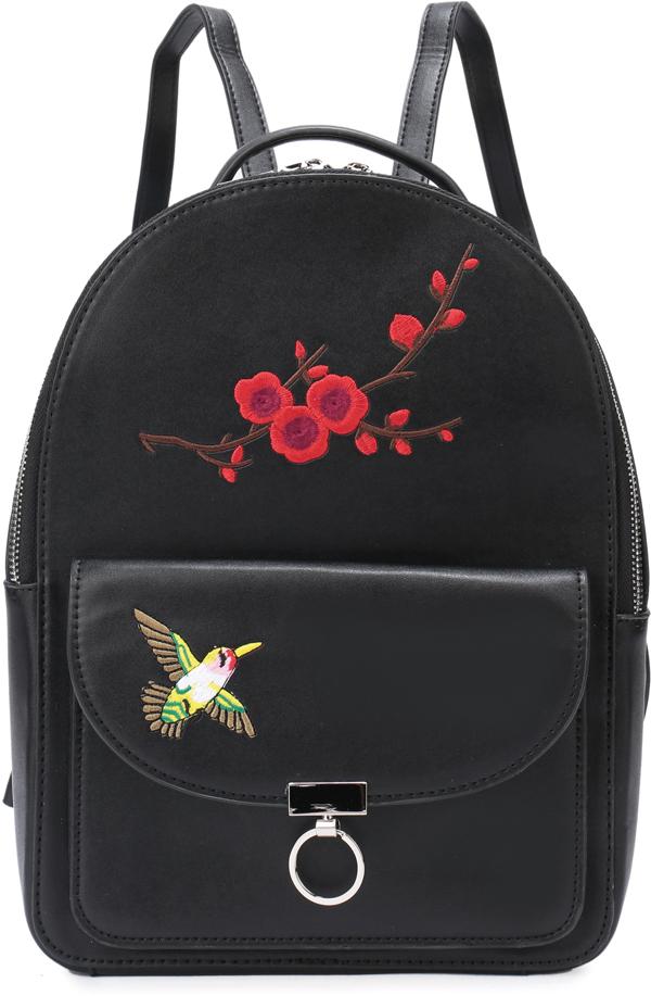 Рюкзак женский OrsOro, цвет: черный, 23 x 32 x 12 см. DS-830/1DS-830/1Рюкзак с одним отделением на молнии имеет внутренний карман на молнии, карман для телефона, внешний карман на магнитной кнопке.