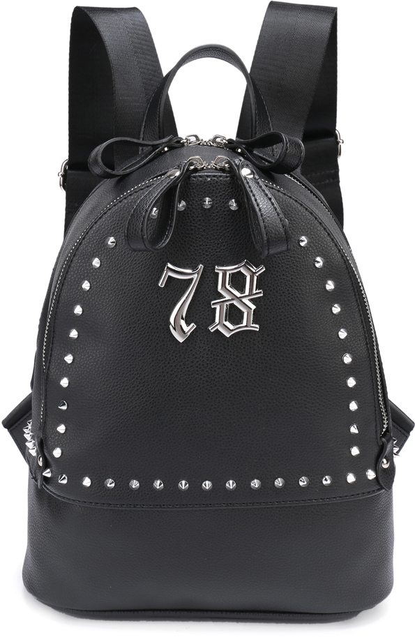Рюкзак женский OrsOro, цвет: черный, 24 x 30 x 13 см. DS-826/1