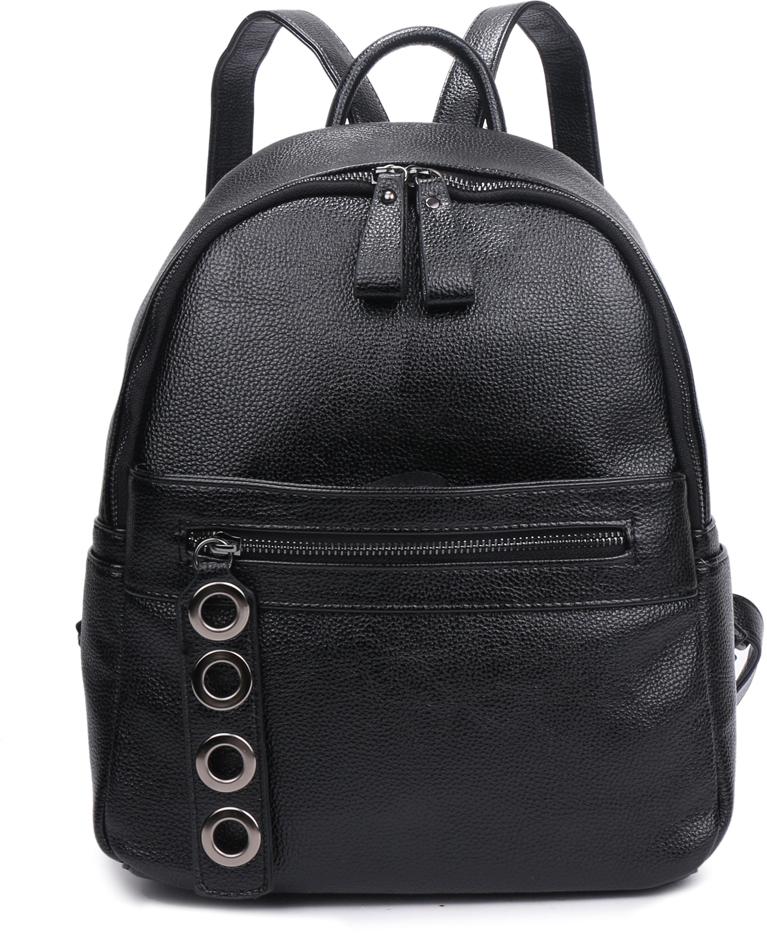 Рюкзак женский OrsOro, цвет: черный, 26 x 34 x 14 см. DS-837/1