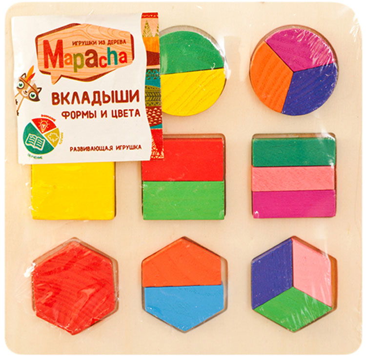 Mapacha Пазл для малышей Вкладыши Формы и цвета