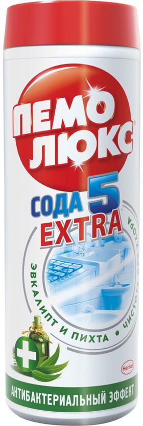 Чистящее средство Пемолюкс Сода 5 Экстра Антибактериальный 480г935069Уникальная формула Пемолюкс Эвкалипт и Пихта с содой и мягким абразивом дополнена натуральными эфирными маслами эвкалипта и пихты, которые известны своими антибактериальными свойствами.Уничтожает бактерии, не содержит хлора и опасных химикатов.Подходит для чистки раковин (на кухне и в ванной комнате), плит, кафеля, ванн, унитазов и различных твердых поверхностей по всему дому. Состав:Товар сертифицирован.Как выбрать качественную бытовую химию, безопасную для природы и людей. Статья OZON Гид