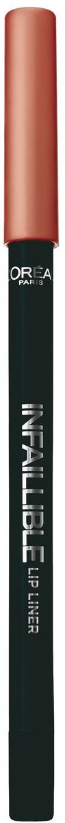 LOreal Paris Карандаш для контура губ Infaillible, оттенок 208, Ванильный бисквитA9324560Стойкий карандаш для губ помогает создать идеальный контур и не дает помаде растекаться. Невероятный выбор насыщенных ультрамодных оттенков.
