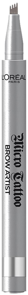 LOreal Paris Лайнер для бровей Brow Artist Micro Tattoo, оттенок 107, Холодный БлондA9400560Роскошные брови - секрет твоего яркого взгляда на весь день.