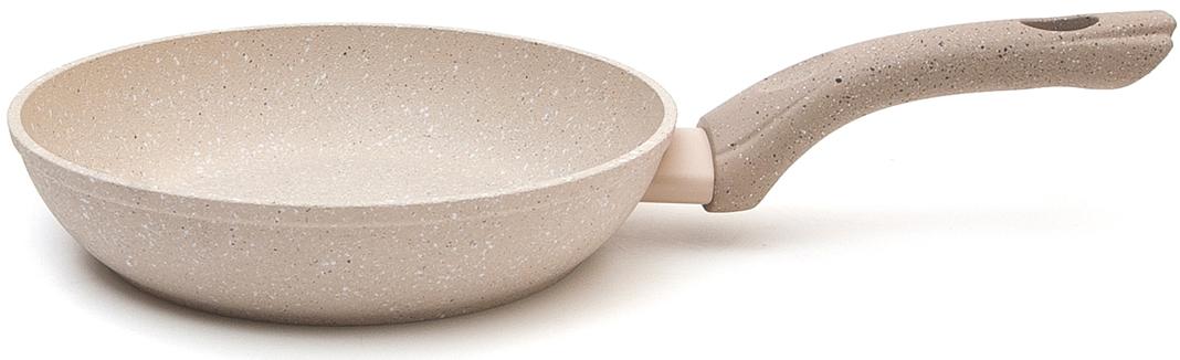 Сковороды из кованого алюминия обладают отличными свойствами теплопередачи, что делает приготовление пищи более быстрым и экономичным. Многослойное толстое дно индукции также обладает высокой устойчивостью к деформации. Внутри они покрыты четырехслойным лицензионным антипригарным покрытием PFLUON Cookmark с уникальным внешним видом, имитирующим камень. Снаружи покрытие имеет тот же цвет, жаростойкий и с грубой текстурой. Подходит для всех видов плит. Обладает повышенными антипригарными свойствами. Сковорода D=20 cm,H=5 cm