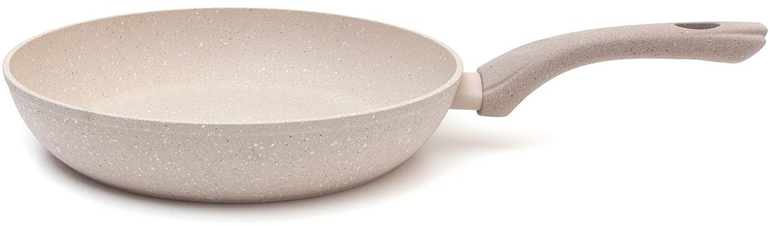 Сковороды из кованого алюминия обладают отличными свойствами теплопередачи, что делает приготовление пищи более быстрым и экономичным. Многослойное толстое дно индукции также обладает высокой устойчивостью к деформации. Внутри они покрыты четырехслойным лицензионным антипригарным покрытием PFLUON Cookmark с уникальным внешним видом, имитирующим камень. Снаружи покрытие имеет тот же цвет, жаростойкий и с грубой текстурой. Подходит для всех видов плит. Обладает повышенными антипригарными свойствами. Сковорода D=28 cm,H=5 cm