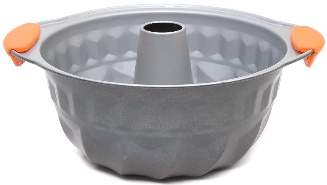 Форма для выпечки из углеродистой стали с антипригарным покрытием идеально подходит для приготовления вашей любимой выпечки. Оснащена практичными силиконовыми ручками. Предназначена для использования в духовке до 220°C. Можно использовать в посудомоечной машине.