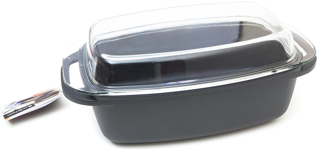 Противень Ambition, с крышкой, 32 х 21 см84107Изделия из литого алюминия отличаются высокой теплопроводностью, что делает приготовление пищи более быстрым и экономичным. Литой алюминий необычайно прочен. Он устойчив к деформации, также при воздействии тепла. Продукты вместе с термостойкими крышками безопасны в духовке до 240 C или 460 F за исключением кастрюли. Покрывается лицензированным покрытием Teflon Platinum Plus, известным рынком. Устойчивость к царапинам покрытия была подтверждена испытаниями. Teflon Platinum Plus является единственным доступным покрытием, которое позволяет использовать металлические шпатели, не рискуя повредить покрытие. Толстое многослойное дно совместимо со всеми плитами, включая индукционную пластину за исключением овальной выпечки. Продукты без кадмия, без свинца, без PFOA и, следовательно, безвредны для окружающей среды. V-5л, D-32х21, с ручкой - 40х21 см, H-11; с крышкой - 16 см.