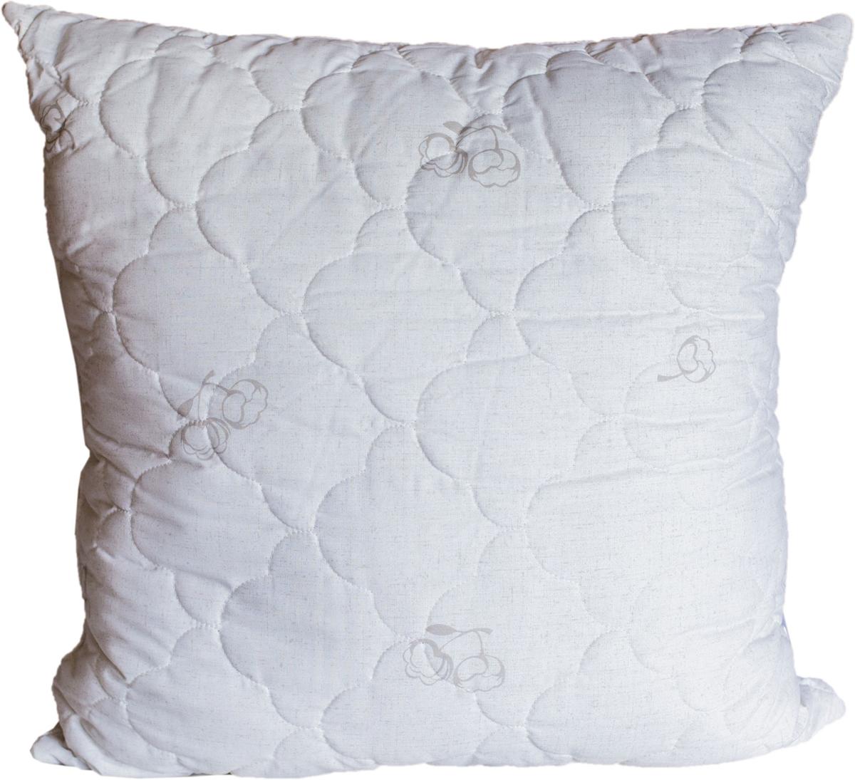 Изделия из хлопкового волокна ценят за их мягкость и теплоту.  Хлопок - это здоровый натуральный природный материал, он хорошо регулирует температуру, согревая тело во время сна.  Подушки из ткани поликоттон гладкокрашеный с фирменной стежкой и дизайном.