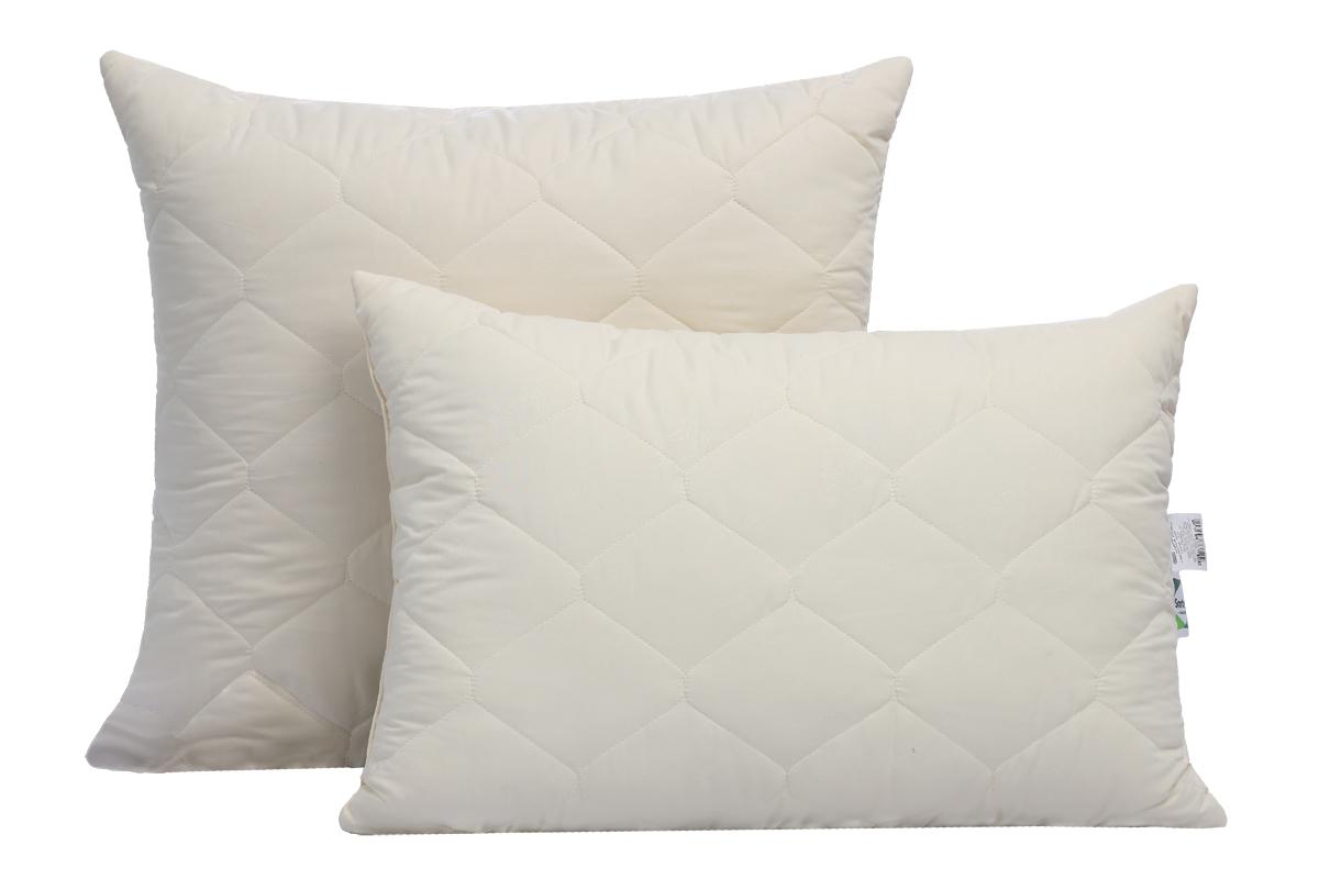 """Подушка Sortex """"Natura"""" имеет антибактериальный эффект, износостойкая с оптимальной набивкой.  Чехол подушки из ткани микрофибра с эффектом персиковой кожи простеган с бамбуковым волокном, основание высокоизвитое силиконизированное волокно."""