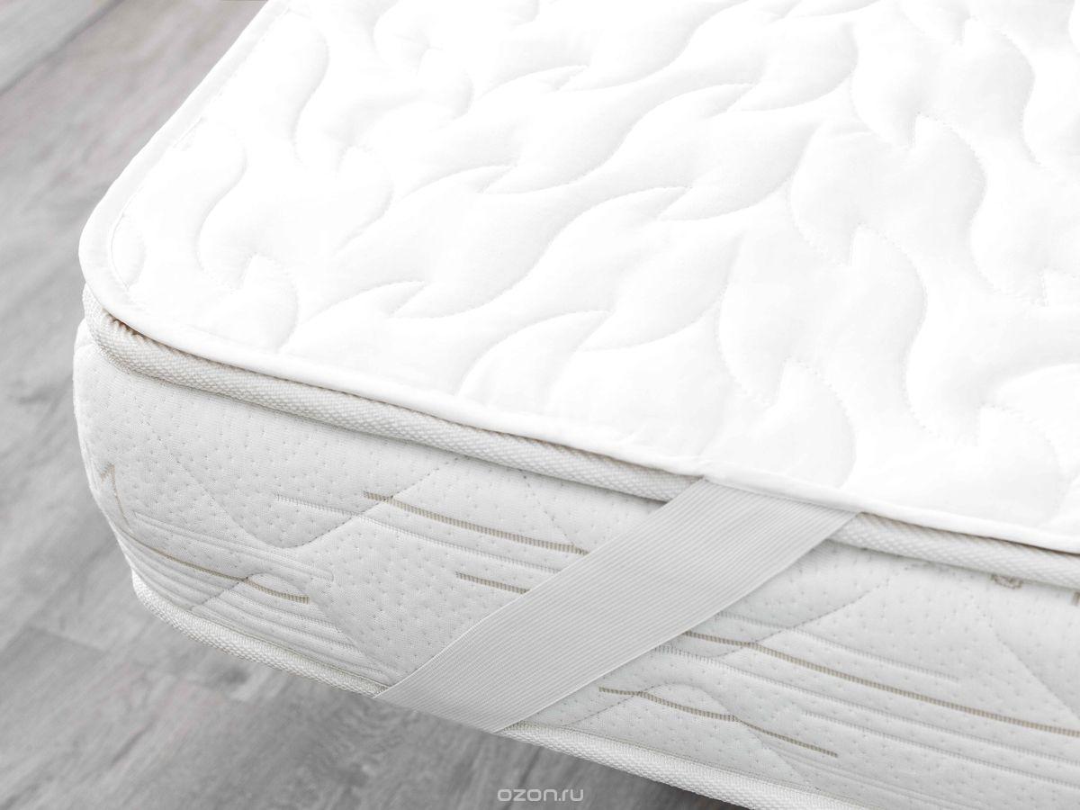 Наматрасник Togas Оптимум Лайт, наполнитель: хлопок, цвет: белый, 180 x 200 см наматрасники candide махровый наматрасник хлопок towelling mattress protector 40x80 см