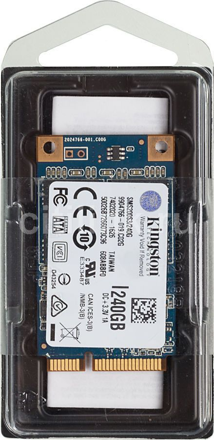 Kingston mS200 Series 240GB SSD-накопитель (SMS200S3/240G) жесткий диск 240gb kingston shss37a 240g