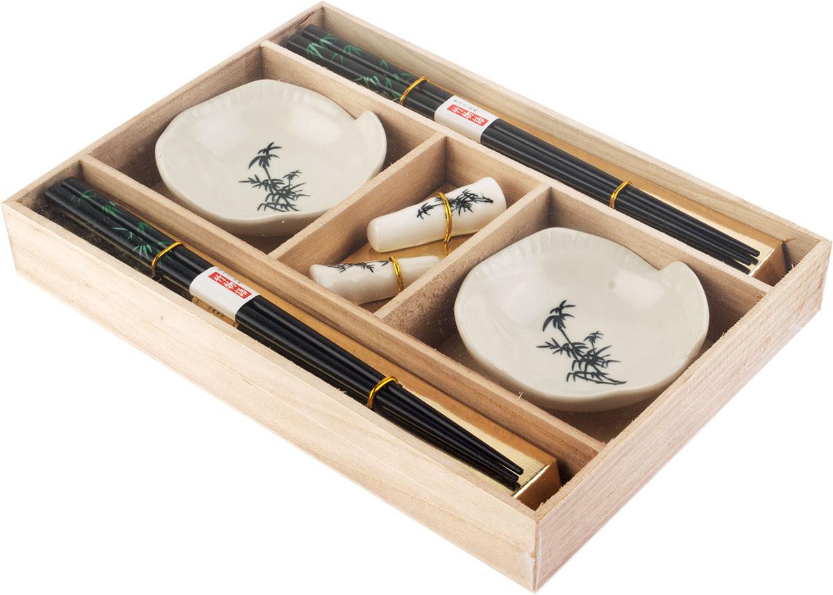 Набор для суши, цвет: белый, черный, 6 предметов40381