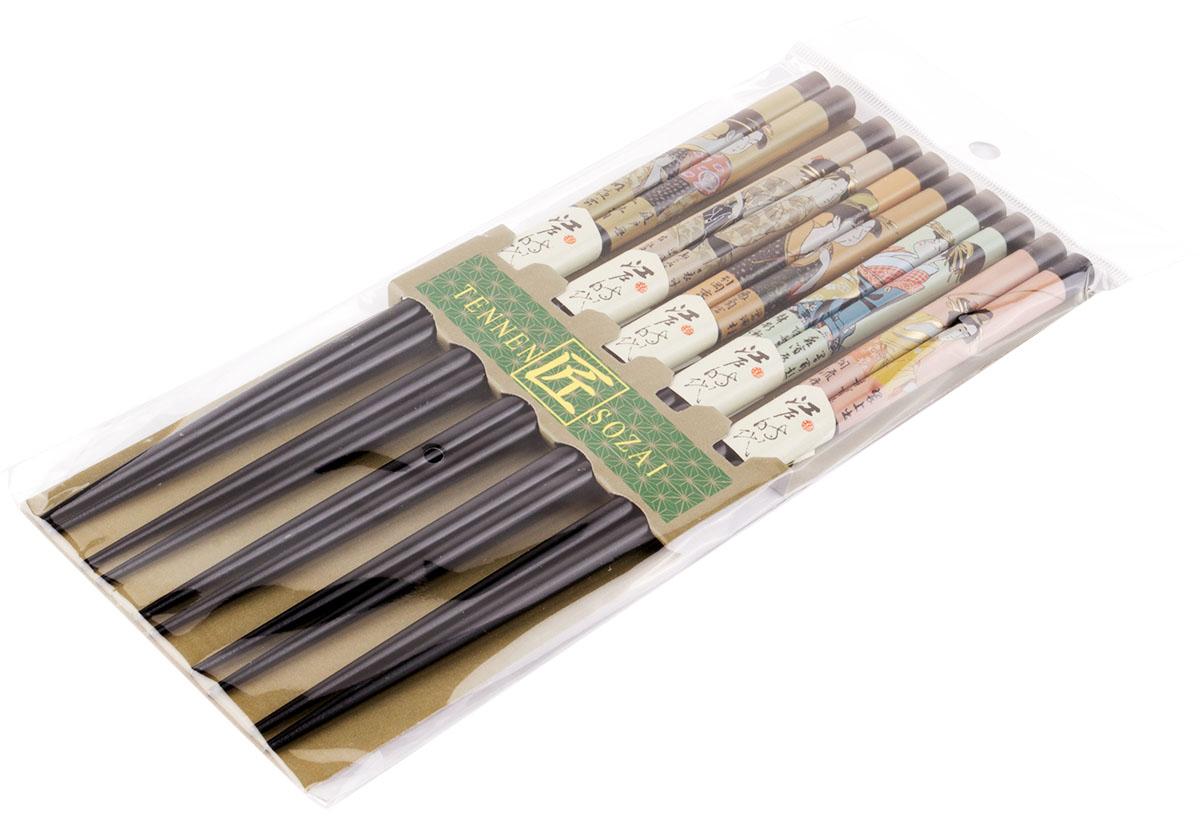Палочки бамбуковые, цвет: черный, 10 шт. 40389 набор для кухни pasta grande 1126804