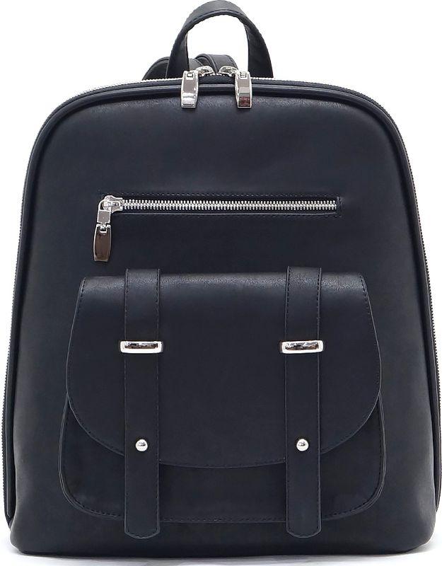 Рюкзак женский Solo, цвет: черный. 651-163651-163Женский рюкзак Solo выполнен из высококачественной искусственной кожи. Модель имеет одно отделение с перегородкой на молнии. Закрывается на молнию. Внутри предусмотрен карман на молнии и открытый карман. Снаружи имеются два кармана на молнии, а также карман под клапаном на магнитной застежке. Длина плечевых ремней регулируется пряжками.