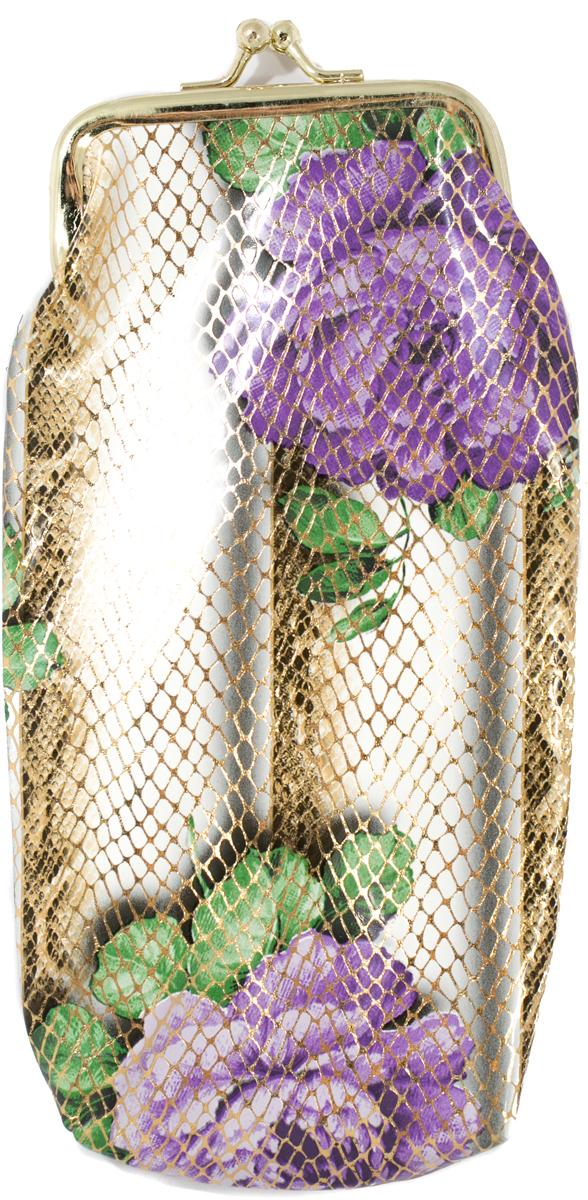 Футляр для очков женский Mitya Veselkov, цвет: фиолетовый, зеленый. JL201.4c8 футляр для очков для мальчика mitya veselkov цвет зеленый a 243 2col 9