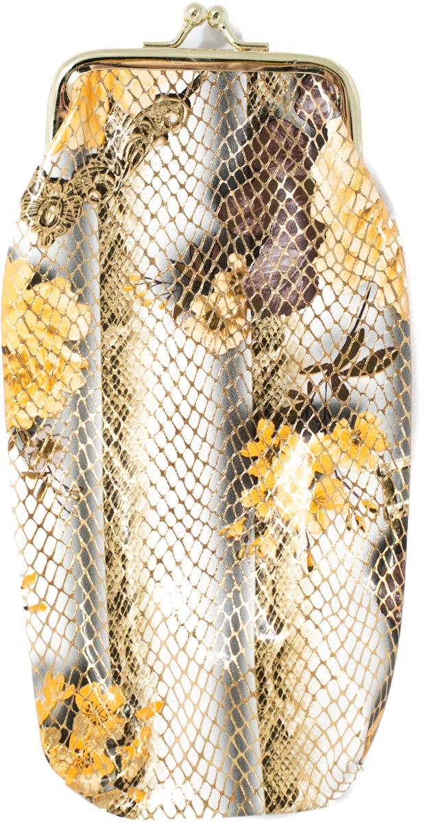Футляр для очков женский Mitya Veselkov, цвет: белый, желтый. JL201.4с2МеталлОригинальный и качественный футляр для очков Mitya Veselkov из металла и искусственной кожи, отличное и красивое решение проблемы пыльных очков. Храните ваши очки дома в футляре, а помимо того футляр послужит незаменимым аксессуаром при поездках.