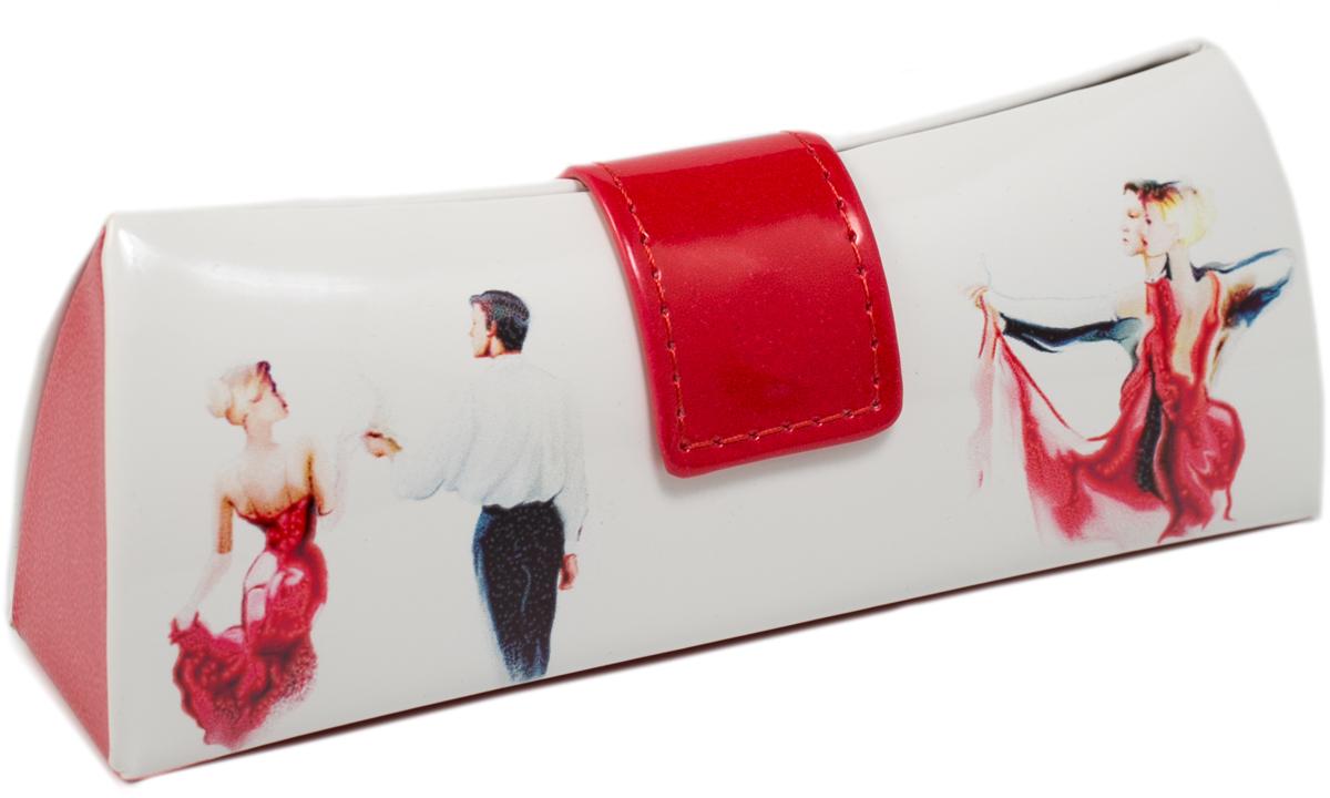 Футляр для очков женский Mitya Veselkov, цвет: белый, красный. LD206.17 футляр для очков мужской mitya veselkov цвет белый серый красный ds 31 1col 6