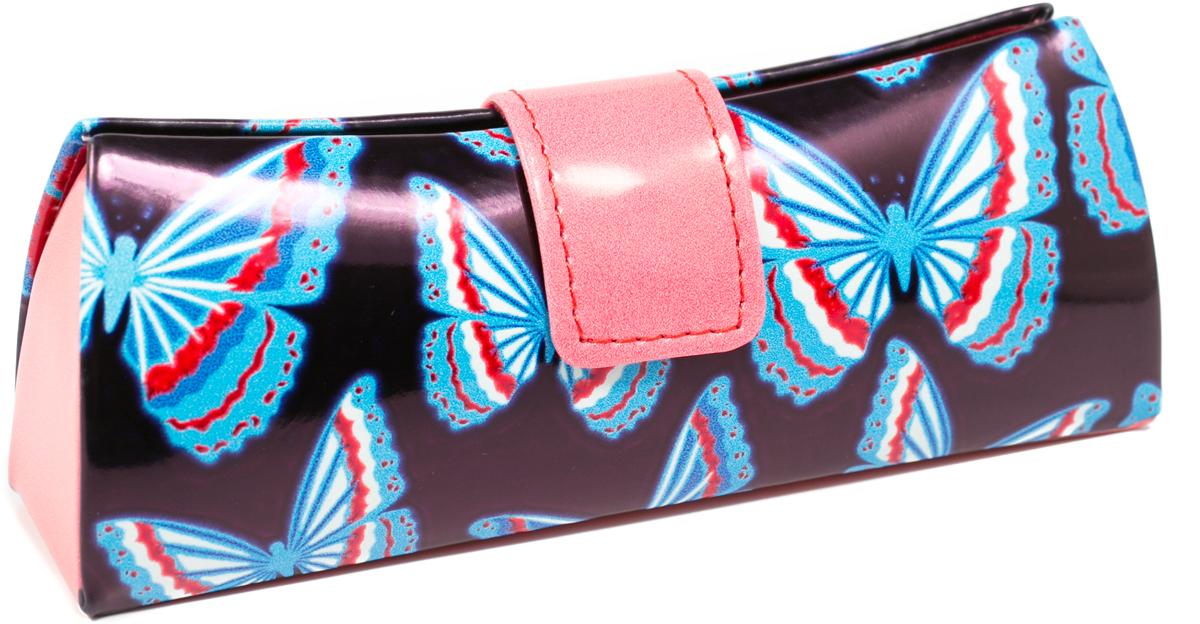 Футляр для очков женский Mitya Veselkov, цвет: черный, синий. LD206.37 футляр для очков женский mitya veselkov цвет черный b229c5