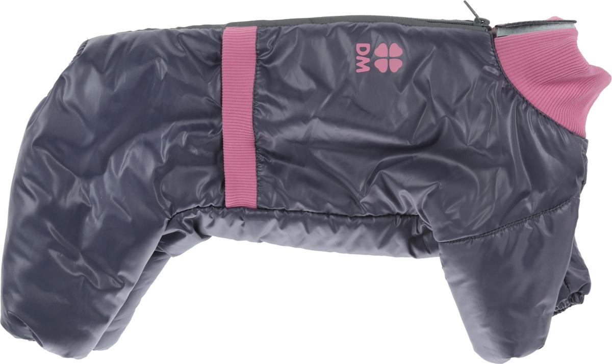 Комбинезон для собак Dogmoda Китайская хохлатая, зимний, для девочки, цвет: серый, розовый комбинезон для собак dogmoda doggs зимний для девочки цвет фиолетовый размер xxl