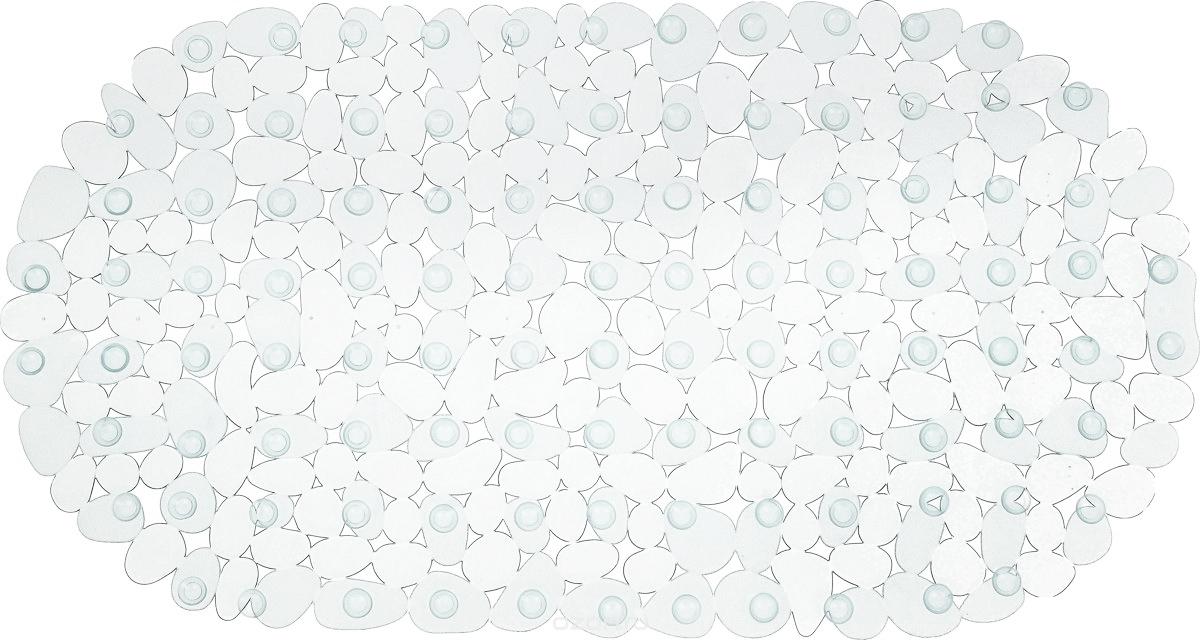 Коврик для ванны Vortex Галька, противоскользящий, овальный, 36 х 69 см. 15042 коврик для ванны vortex галька противоскользящий овальный цвет синий 36 х 69 см 15042
