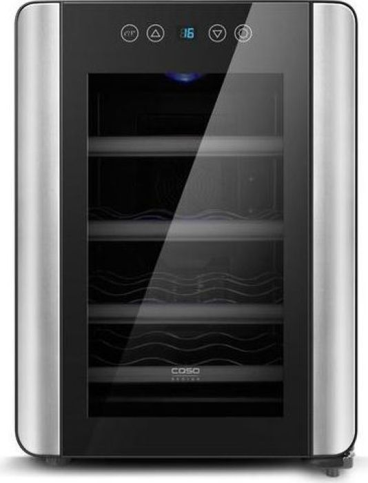 CASO WineCase Red 12, Black Steel винный холодильник винный шкаф caso winecase red 12 черный серебристый