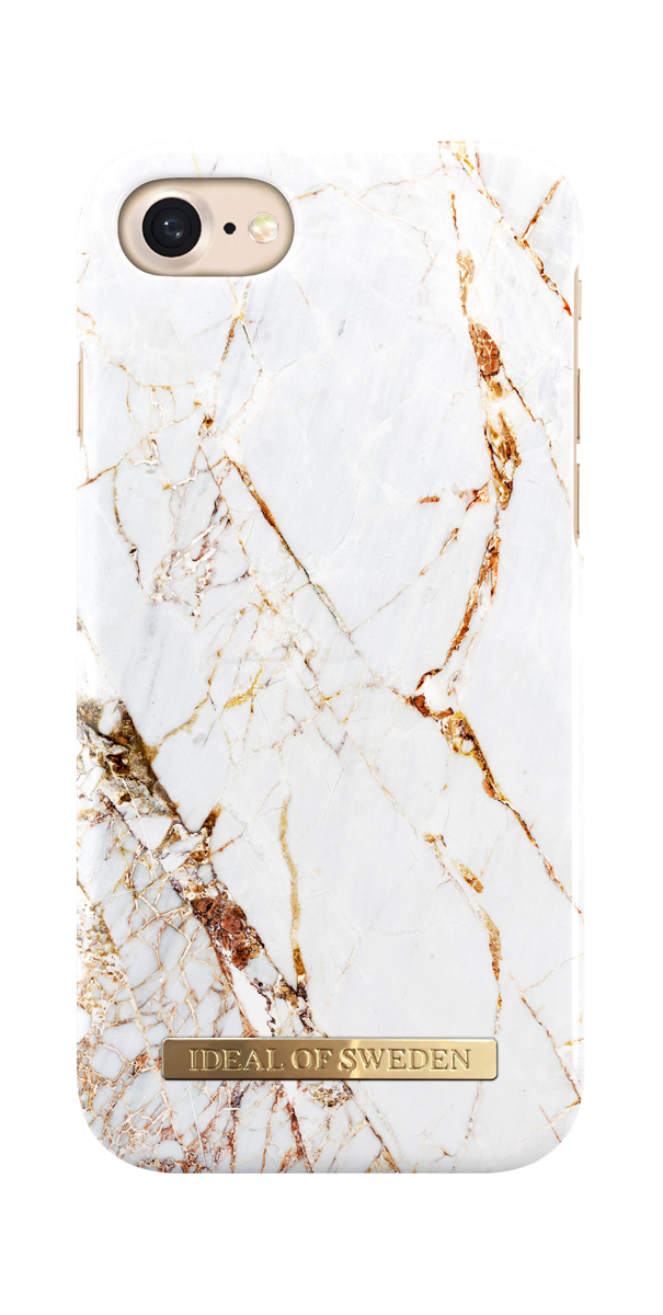 iDeal чехол для Apple iPhone 8/7/6/6S, Carrara GoldIDFCA16-I7-46Клип-кейс iDeal – это модный аксессуар, стильное и оригинальное украшение, имеющее яркий дизайн, насыщенные цвета и необычный узор, в сочетании с высокой степенью защиты мобильного устройства, сохраняет привлекательный внешний вид и подчеркивает индивидуальный стиль, а также изысканный вкус владельца.Чехол-накладка iDeal - это надежная защита корпуса смартфона от царапин и внешних воздействий. Конструкция чехла обеспечивает его надежное крепление на корпусе мобильного устройства.Специальные вырезы обеспечивают свободный доступ к разъемам и элементам управления, а также позволяют в любой удобный момент вести фото- и видеосъемку. Устойчивый к истиранию пластик клип-кейса надолго сохраняет привлекательный внешний вид и не теряет насыщенность цветов. Аксессуар выполнен из пластика, который имеет среднюю степень жесткости.Изнутри накладка покрыта замшей, чтобы обеспечить корпусу смартфона дополнительную защиту от царапин.