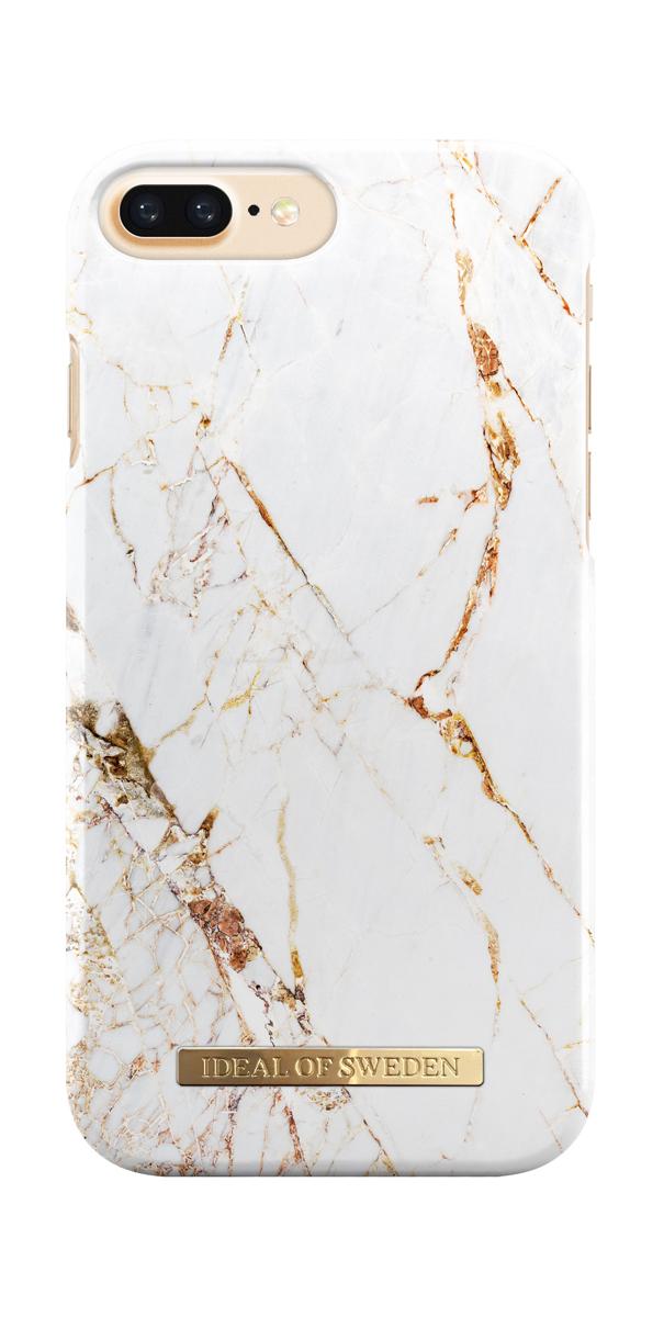iDeal чехол для Apple iPhone 8/7/6/6S, Plus Carrara GoldIDFCA16-I7P-46Клип-кейс iDeal – это модный аксессуар, стильное и оригинальное украшение, имеющее яркий дизайн, насыщенные цвета и необычный узор, в сочетании с высокой степенью защиты мобильного устройства, сохраняет привлекательный внешний вид и подчеркивает индивидуальный стиль, а также изысканный вкус владельца.Чехол-накладка iDeal - это надежная защита корпуса смартфона от царапин и внешних воздействий. Конструкция чехла обеспечивает его надежное крепление на корпусе мобильного устройства.Специальные вырезы обеспечивают свободный доступ к разъемам и элементам управления, а также позволяют в любой удобный момент вести фото- и видеосъемку. Устойчивый к истиранию пластик клип-кейса надолго сохраняет привлекательный внешний вид и не теряет насыщенность цветов. Аксессуар выполнен из пластика, который имеет среднюю степень жесткости.Изнутри накладка покрыта замшей, чтобы обеспечить корпусу смартфона дополнительную защиту от царапин.