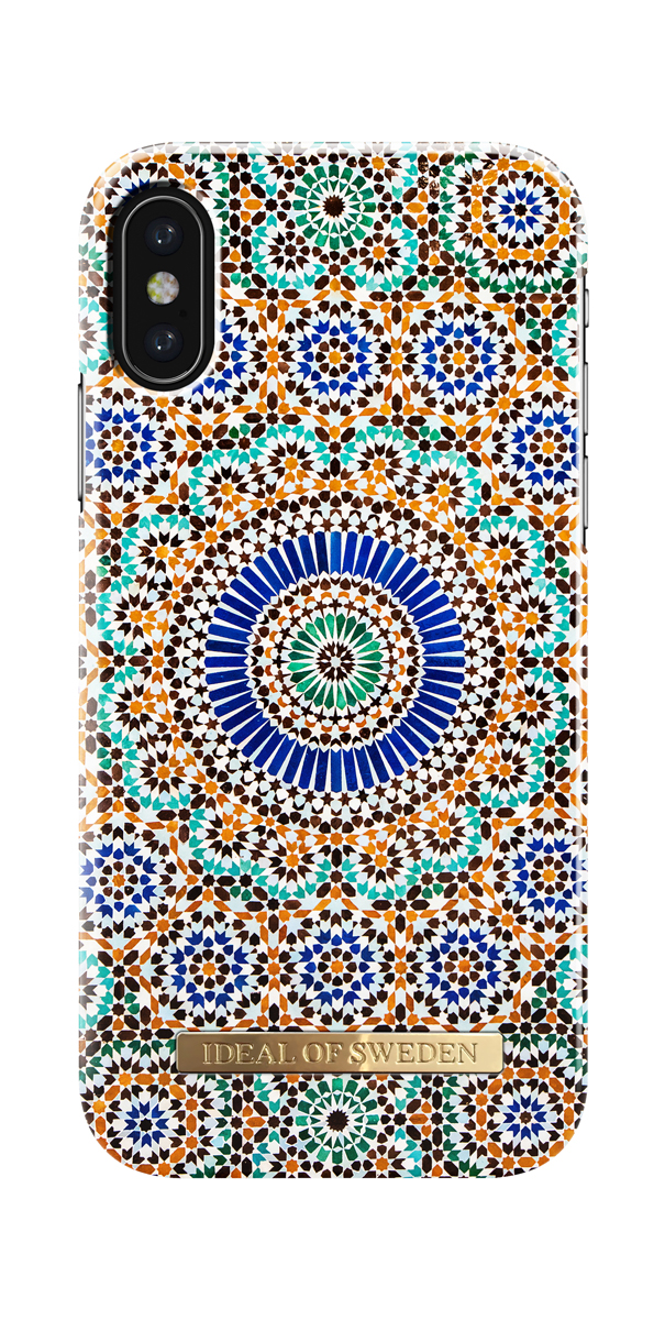iDeal чехол для Apple iPhone X, Moroccan ZelligeIDFCS17-I8-54Клип-кейс iDeal – это модный аксессуар, стильное и оригинальное украшение, имеющее яркий дизайн, насыщенные цвета и необычный узор, в сочетании с высокой степенью защиты мобильного устройства, сохраняет привлекательный внешний вид и подчеркивает индивидуальный стиль, а также изысканный вкус владельца.Чехол-накладка iDeal - это надежная защита корпуса смартфона от царапин и внешних воздействий. Конструкция чехла обеспечивает его надежное крепление на корпусе мобильного устройства.Специальные вырезы обеспечивают свободный доступ к разъемам и элементам управления, а также позволяют в любой удобный момент вести фото- и видеосъемку. Устойчивый к истиранию пластик клип-кейса надолго сохраняет привлекательный внешний вид и не теряет насыщенность цветов. Аксессуар выполнен из пластика, который имеет среднюю степень жесткости.Изнутри накладка покрыта замшей, чтобы обеспечить корпусу смартфона дополнительную защиту от царапин.