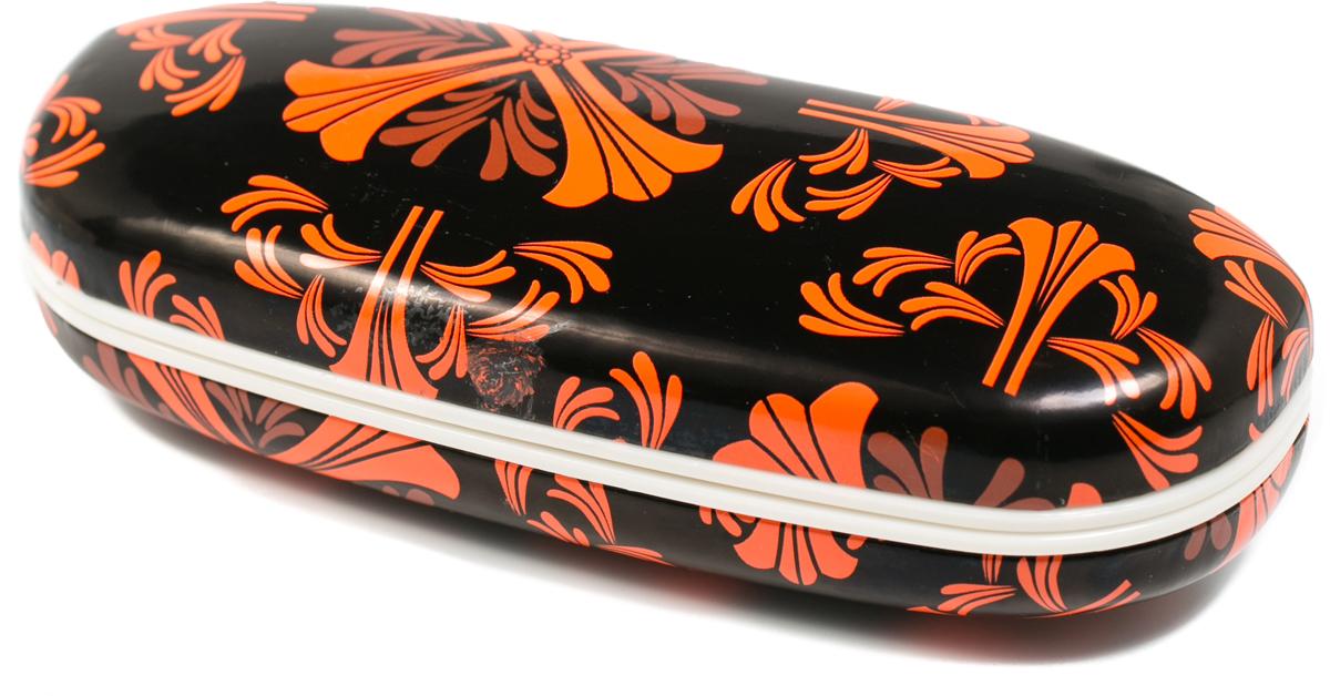 Футляр для очков женский Mitya Veselkov, цвет: черный, оранжевый. X-836c12 футляр для очков женский mitya veselkov цвет черный b229c5