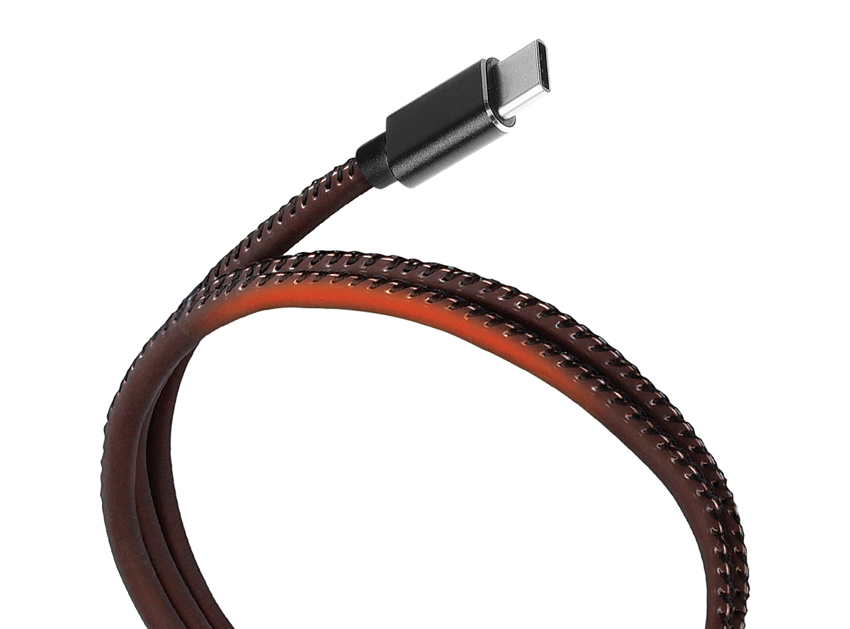 Qumo кабель USB 2.0 -Type-С, PVC оплетка, Black (1 м)