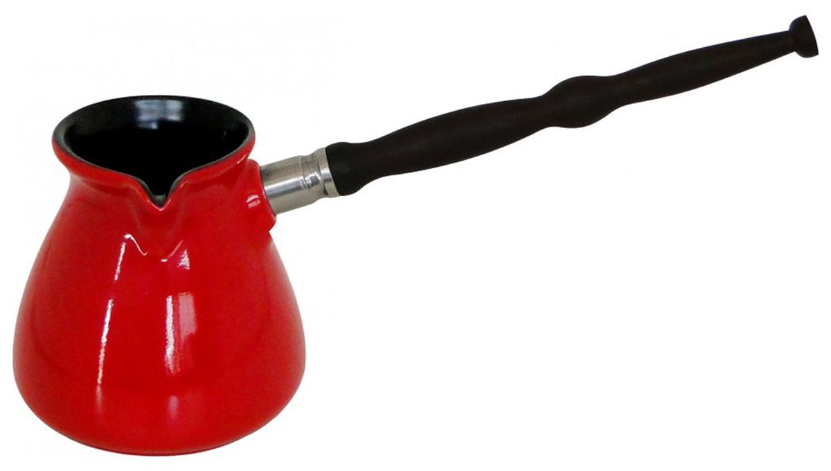 """Турка Сeraflame """"Ibriks New"""" выполнена из высококачественной керамики. Турка быстро нагревается, долго сохраняет тепло и не впитывает посторонние запахи. Турка проста в использовании. Она легко моется.  Ручка выполнена из натуральной древесины, она не нагревается."""