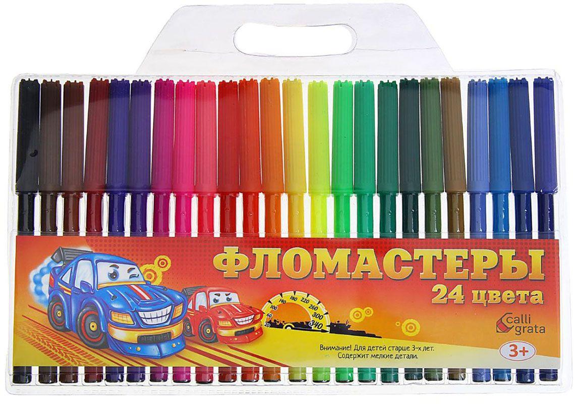 Calligrata Набор фломастеров Машинка 24 цвета 12641121264112Набор фломастеров станет прекрасным развлечением для вашего ребенка.В отличие от карандашей, фломастеры не нуждаются в заточке и не требуют усилий для создания ярких линий. Перед красками у нихпреимущество в том, что изображения сразу получаются чёткими, а насыщенность цвета нисколько не уступает гуаши.В наборе 24 цвета.Фломастеры- это превосходный выбор для создания мини-шедевров с мини-затратами. Высококачественное изделие направит весь творческийпотенциал ребёнка в нужное русло.Не рекомендуется детям до 3-х лет.