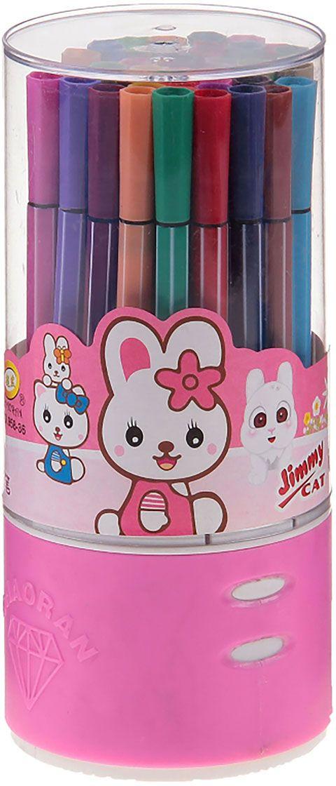 Набор фломастеров Полоска цвет упаковки розовый 36 шт1035556Почему дети так любят рисовать фломастерами? Юных художников прельщает не только бесконечная тяга к творчеству, но также практичность и эргономичность при использовании пишущих инструментов.В отличие от карандашей, фломастеры не нуждаются в заточке и не требуют усилий для создания ярких линий. Перед красками у них преимущество в том, что изображения сразу получаются чёткими, а насыщенность цвета нисколько не уступает гуаши.Простота, в мгновение ока создающая красоту, — вот что по-настоящему привлекает маленьких творцов!Набор фломастеров Полоска — это превосходный выбор для создания мини-шедевров. Высококачественное изделие направит весь творческий потенциал ребёнка в нужное русло.