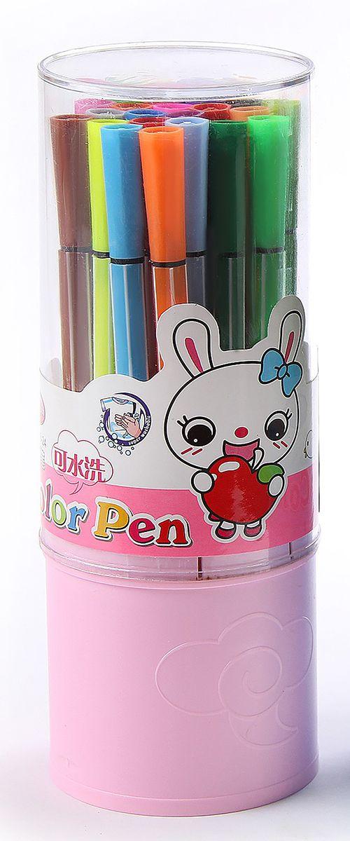 Набор фломастеров Полоски цвет упаковки розовый 24 шт 641145 -  Фломастеры