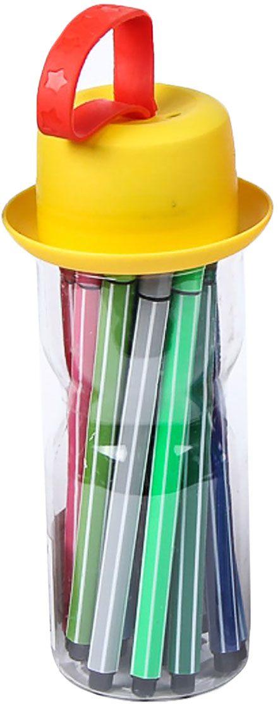 Набор фломастеров Полоски Шляпа цвет упаковки желтый 18 цветов 28644002864400Почему дети так любят рисовать фломастерами? Юных художников прельщает не только бесконечная тяга к творчеству, но также практичность и эргономичность при использовании пишущих инструментов.В отличие от карандашей, фломастеры не нуждаются в заточке и не требуют усилий для создания ярких линий. Перед красками у них преимущество в том, что изображения сразу получаются чёткими, а насыщенность цвета нисколько не уступает гуаши.Простота, в мгновение ока создающая красоту, — вот что по-настоящему привлекает маленьких творцов!Как выбрать подходящий фломастер? Необходимо учитывать сразу несколько аспектов: тип чернил (водная или спиртовая основа), вид наконечника (пластик или синтетические волокна, толстый или тонкий), тип корпуса (полистирол или полипропилен) и даже колпачок (крупный или мелкий).Фломастеры— это превосходный выбор для создания мини-шедевров с мини-затратами. Высококачественное изделие направит весь творческий потенциал ребёнка в нужное русло.