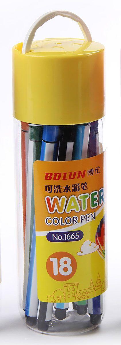 Набор фломастеров Смайл цвет упаковки желтый 18 шт 2870484 -  Фломастеры