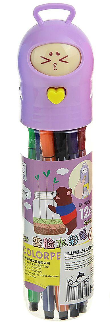 Набор фломастеров Мишка с игрушкой цвет упаковки фиолетовый 12 цветов 19655741965574Почему дети так любят рисовать фломастерами? Юных художников прельщает не только бесконечная тяга к творчеству, но также практичность и эргономичность при использовании пишущих инструментов.В отличие от карандашей, фломастеры не нуждаются в заточке и не требуют усилий для создания ярких линий. Перед красками у них преимущество в том, что изображения сразу получаются чёткими, а насыщенность цвета нисколько не уступает гуаши.Простота, в мгновение ока создающая красоту, — вот что по-настоящему привлекает маленьких творцов!Как выбрать подходящий фломастер? Необходимо учитывать сразу несколько аспектов: тип чернил (водная или спиртовая основа), вид наконечника (пластик или синтетические волокна, толстый или тонкий), тип корпуса (полистирол или полипропилен) и даже колпачок (крупный или мелкий).Фломастеры— это превосходный выбор для создания мини-шедевров с мини-затратами. Высококачественное изделие направит весь творческий потенциал ребёнка в нужное русло.