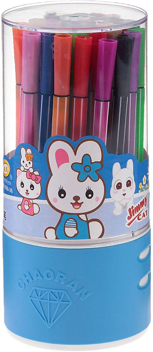 Набор фломастеров Полоска цвет упаковки голубой 36 цветов 10355561035556Почему дети так любят рисовать фломастерами? Юных художников прельщает не только бесконечная тяга к творчеству, но также практичность и эргономичность при использовании пишущих инструментов.В отличие от карандашей, фломастеры не нуждаются в заточке и не требуют усилий для создания ярких линий. Перед красками у них преимущество в том, что изображения сразу получаются чёткими, а насыщенность цвета нисколько не уступает гуаши.Простота, в мгновение ока создающая красоту, — вот что по-настоящему привлекает маленьких творцов!Как выбрать подходящий фломастер? Необходимо учитывать сразу несколько аспектов: тип чернил (водная или спиртовая основа), вид наконечника (пластик или синтетические волокна, толстый или тонкий), тип корпуса (полистирол или полипропилен) и даже колпачок (крупный или мелкий).Фломастеры— это превосходный выбор для создания мини-шедевров с мини-затратами. Высококачественное изделие направит весь творческий потенциал ребёнка в нужное русло.