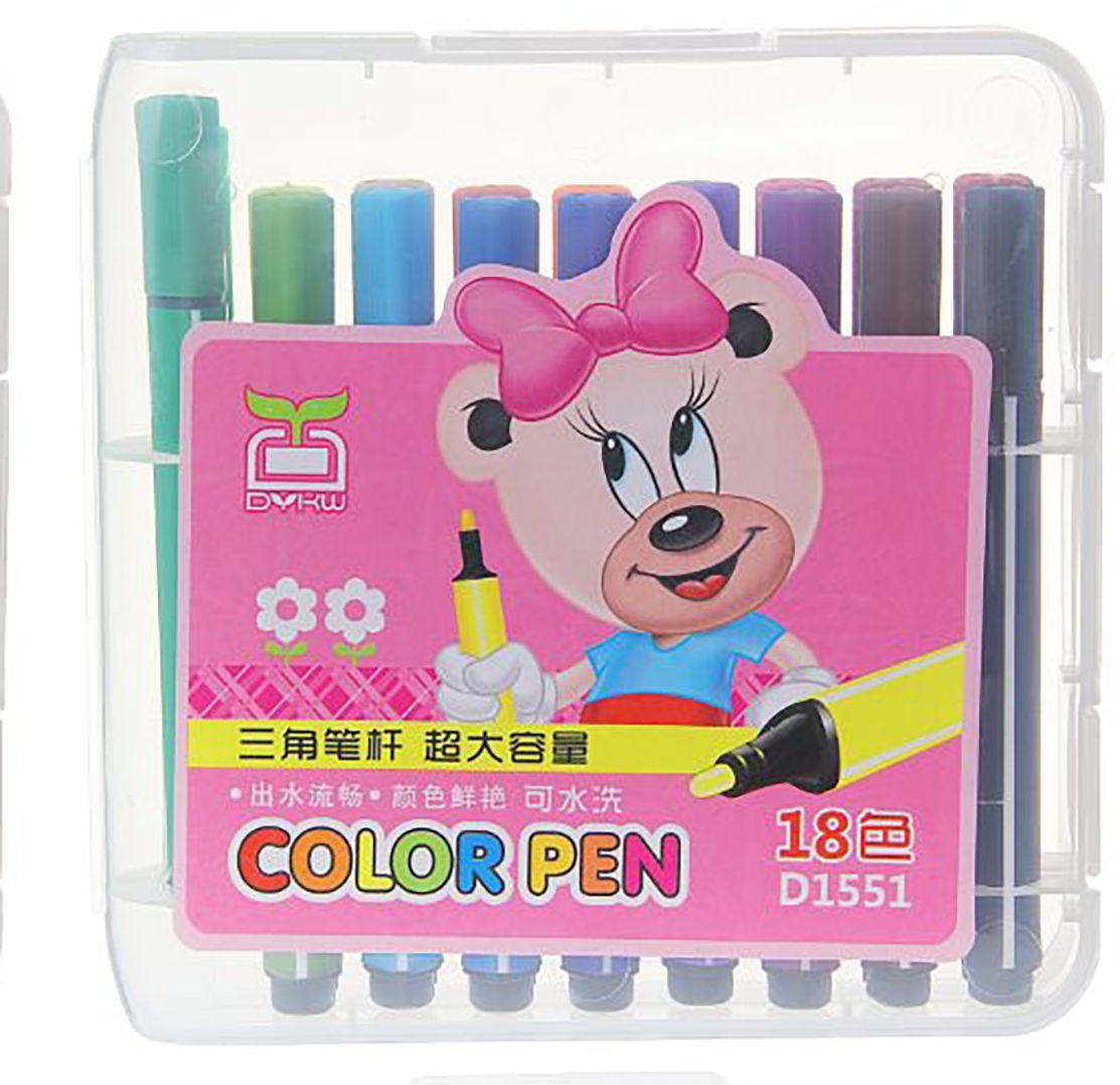 Набор толстых фломастеров Полоски цвет упаковки розовый 18 цветов 641140641140Толстые фломастеры придуманы для комфорта и удобства детей. Фломастеры имеют особый утолщённый корпус, который снижает усталость кисти ребёнка в процессе рисования.Кроме разнообразия цветовой палитры, к их достоинствам можно отнести абсолютную безопасность для детского здоровья и соответствие всем российским стандартам качества.Оформите заказ сейчас и узнайте условия бесплатной доставки.