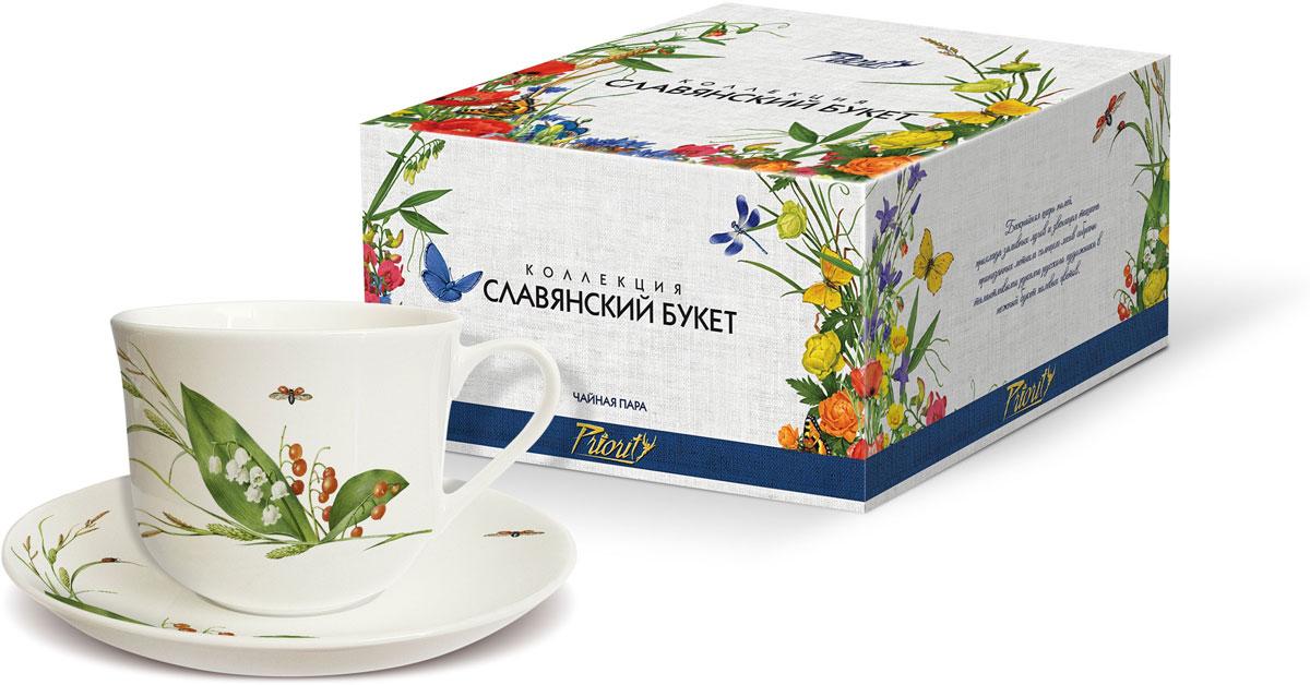 Чайная пара PrioritY Славянский букет. Ландыши, 480 мл, 2 предмета