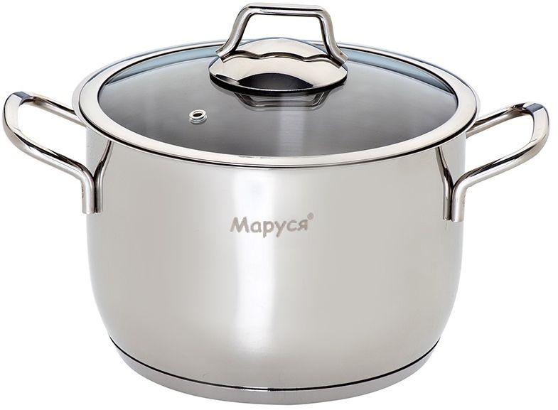 """Кастрюля Маруся """"Классика"""" имеет пятислойное капсульное дно. Подходит для всех типов плит."""