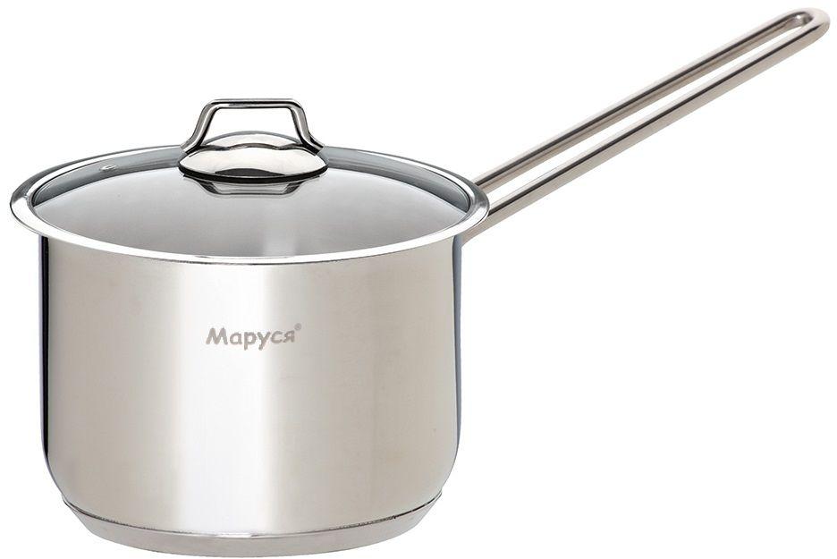 """Ковш Маруся """"Классика"""" имеет пятислойное капсульное дно.  Подходит для всех типов плит."""