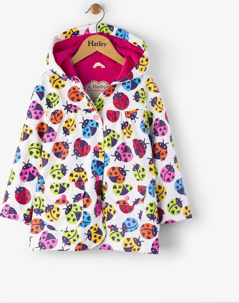 Дождевик для девочки Hatley, цвет: белый, мультиколор. RC5LADY283. Размер 112, 5 летRC5LADY283Непромокаемый плащ для девочки изготовлен из 100% полиуретана - высокотехнологичного материала, безвредного для здоровья ребенка. Изделие оснащено контрастной полиэстровой подкладкой типа махра, что позволяет ребенку чувствовать себя комфортно длительное время. Изюминкой бренда Hatley остаются яркие, забавные принты, которые не оставят равнодушным ни одного ребенка.