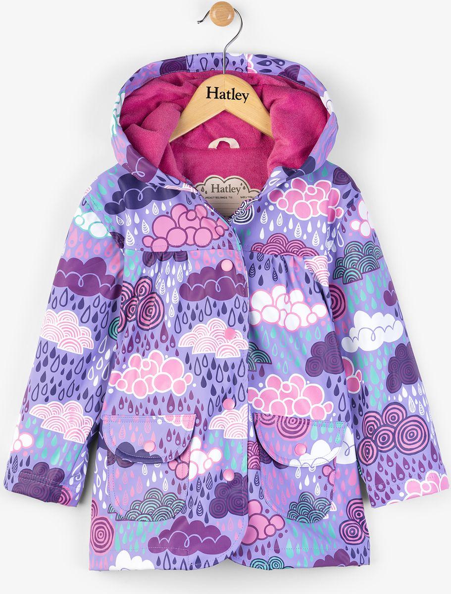 Дождевик для девочки Hatley, цвет: сиреневый. RC5CLOD281. Размер 104, 4 годаRC5CLOD281Непромокаемый плащ для девочки изготовлен из 100% полиуретана - высокотехнологичного материала, безвредного для здоровья ребенка. Изделие оснащено контрастной полиэстровой подкладкой типа махра, что позволяет ребенку чувствовать себя комфортно длительное время. Изюминкой бренда Hatley остаются яркие, забавные принты, которые не оставят равнодушным ни одного ребенка.