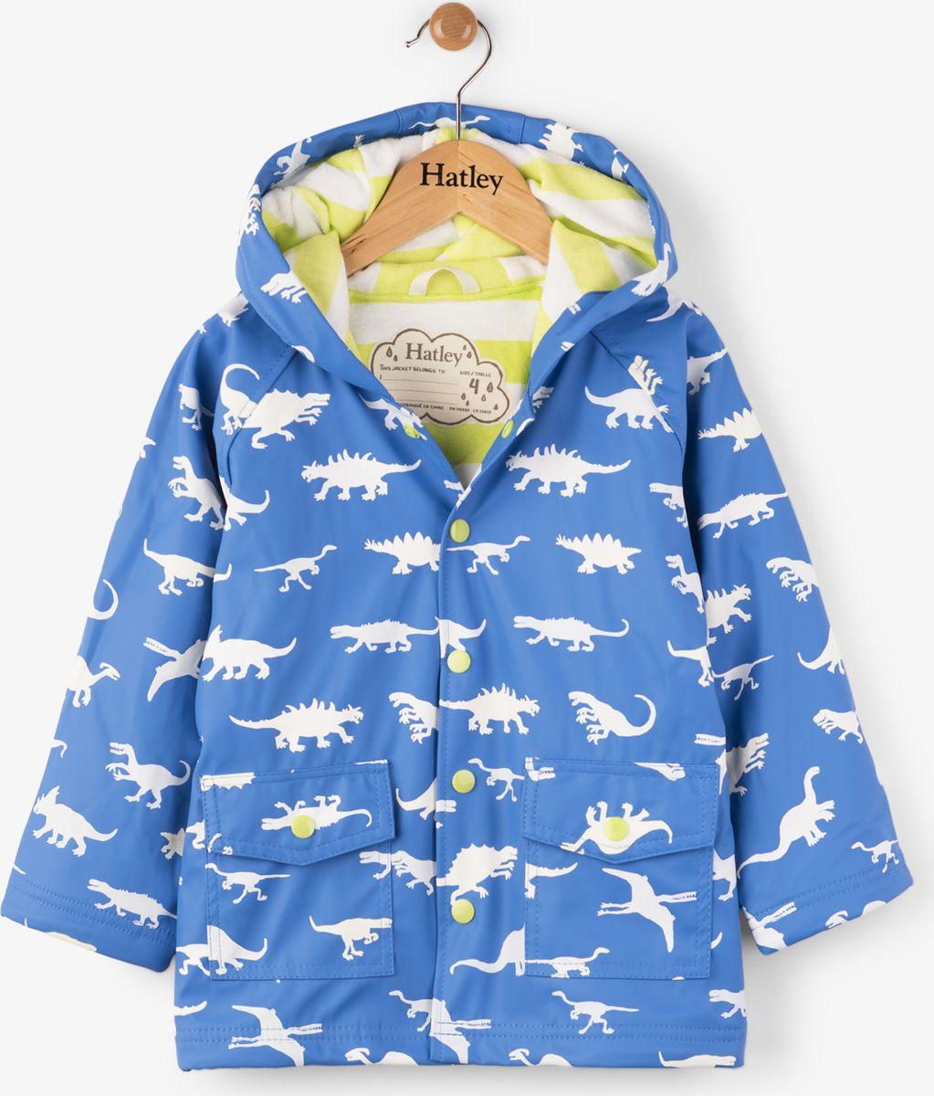 Дождевик для мальчика Hatley, цвет: голубой. RC6DINO536. Размер 97, 3 годаRC6DINO536Непромокаемый плащ для мальчика Hatley изготовлен из 100% полиуретана - высокотехнологичного материала, безвредного для здоровья ребенка. Изделие оснащено контрастной полиэстеровой подкладкой типа махра, что позволяет ребенку чувствовать себя комфортно длительное время. Капюшон не отстегивается, карманы на кнопках. Изюминкой бренда Hatley остаются яркие, забавные принты, которые не оставят равнодушным ни одного ребенка.