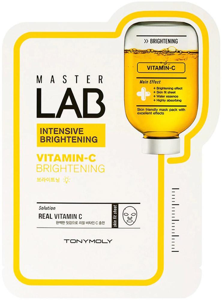 Tony Moly Маска отбеливающая на основе витамина С Master Lab Vitamin C Brightening Mask Sheet, 19 мл tony moly тканевая маска master lab collagen mask sheet с черной икрой