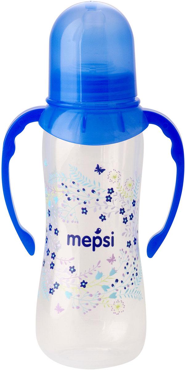 Mepsi Бутылочка для кормления с ручками с силиконовой соской от 4 месяцев 250 мл