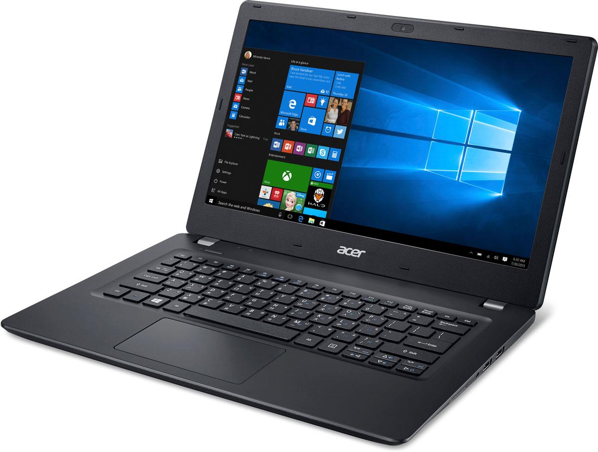 Acer TravelMate TMP238-M-P96L, Black (NX.VBXER.018)NX.VBXER.018Acer TravelMate TMP238 - ноутбук для бизнеса, который обеспечивает превосходную производительность,комфортность работы и обладает отличными функциями безопасности.Корпус с минималистичным дизайном и текстурированным узором придает устройству стильный внешний вид.Внутренняя поверхность из матового металла с текстурированным узором не только приятна на ощупь, но иобеспечивает удобство при наборе текста и работе с контентом.Продуманный дизайн с полированными гранями, напоминающими грани алмаза, придает ноутбуку элегантныйвнешний вид.Ноутбук Acer TravelMate TMP238 идеально подходит для выполнения разнообразных бизнес-задач благодарянепревзойденной производительности и высокой степени защиты данных. Процессор Intel Pentium 4405U совстроенной графикой и 4 ГБ системной памяти позволяют работать в динамичном ритме.Точные характеристики зависят от модели.Ноутбук сертифицирован EAC и имеет русифицированную клавиатуру и Руководство пользователя