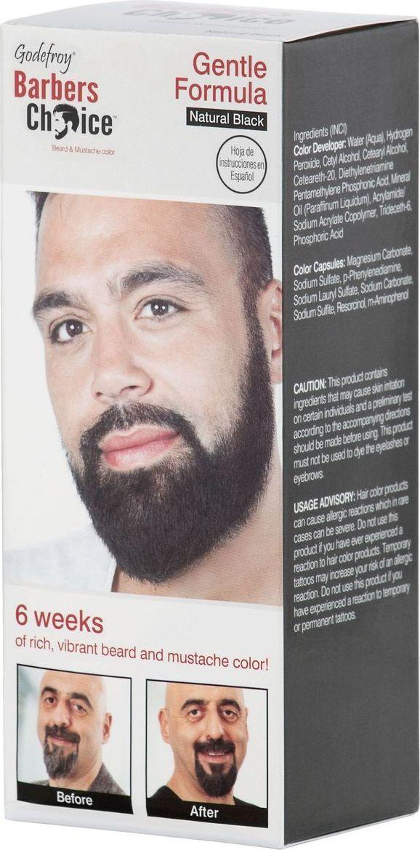 Godefroy Barbers Choice Камуфляж бороды, цвет: Natural Black1202Идеальное средство для выравнивания цвета и камуфляжа седины, которое обеспечит бороде естественней оттенок, сохраняющийся неизменным на протяжении 4-6 недель. Мягкая формула не содержит аммиака, а потому не имеет резкого запаха и гарантирует безопасное окрашивание. Заключенный в специальную капсулу пигмент долго сохраняет свои свойства и при активации оксидантом обеспечивает ровное прокрашивание. (Цвет: натуральный черный)
